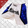 FIGHT-FIT - Muay Thai Shorts / Weiss-Blau